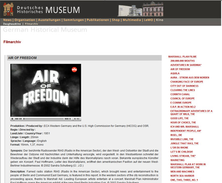 Air of Freedom is one of the propaganda films available in the German Historical Museum archive
