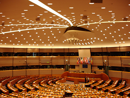 Who will fill the seats? The empty EU Parliament in Brussels / photo: Xavier Larrosa, flickr