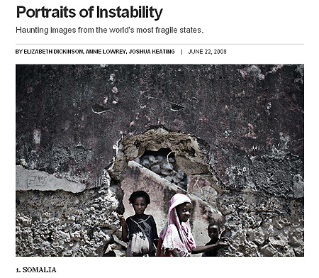 Screenshot of Foreign Policy photo essay on failed states