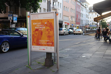Global Media Conference poster in Bonn / photo: Cristina Viehmann, ISN