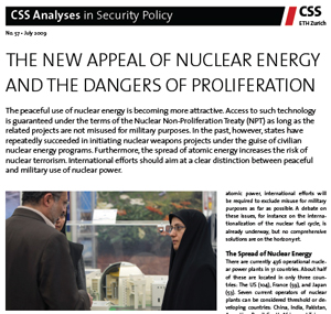 The New Appeal of Nuclear Energy and the Dangers of Proliferation