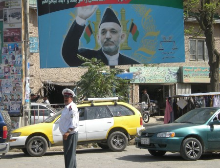 Election fever in Kabul, Afghanistan. Photo taken by our correspondent on the ground, Anuj Chopra