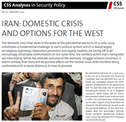 Iran: Domestic Crisis and Options for the West