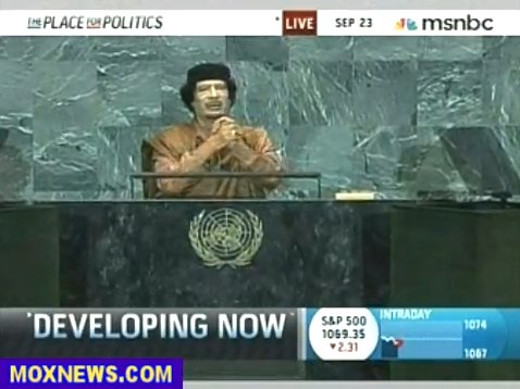 Gaddafi's speech at the UN General Assembly