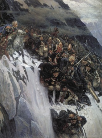 Suvorov crossing the alps / Wikimedia Foundation