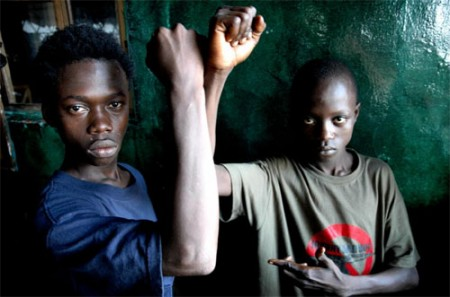 Former child soldiers / Screenshot: Johnny Mad Dog Foundation