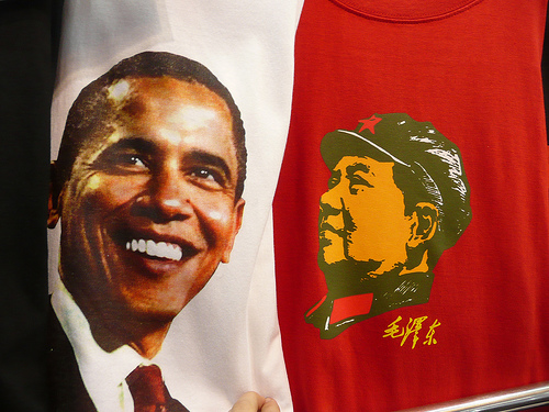 Obama and Mao T-shirts, photo: Shea Hazarian/flickr