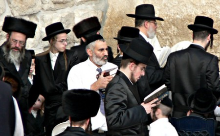 Orthodox Jews at the Western Wall, courtesy of Premsagar/flickr