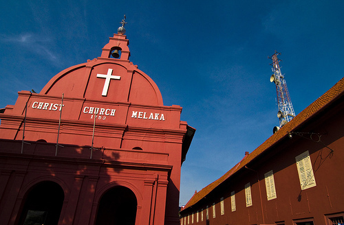 Church in Malacca, Malaysia, photo: HKmPUA /flickr