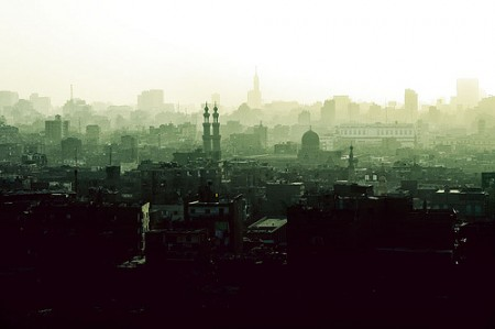 Cairo skyline in dusk