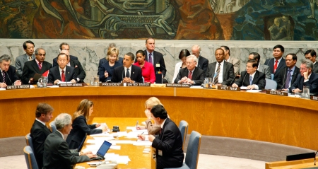 UN Security Council session on 24 September 2009 chaired by US President Barack Obama. (UN Photo)