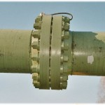 Close-up of a pipeline