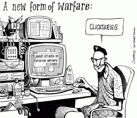 Cyberwar? © Chappatte/Globecarton