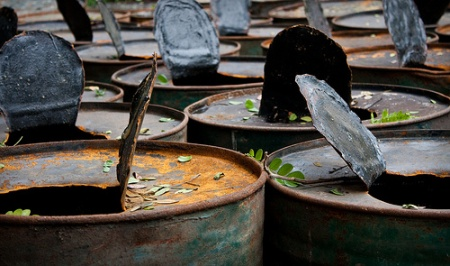 Rusty oildrums, by Gabe/flickr