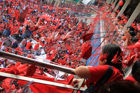 Red shirts rally in Thailand