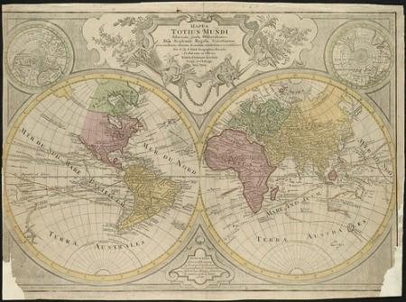A mappa mundi from the 18th century