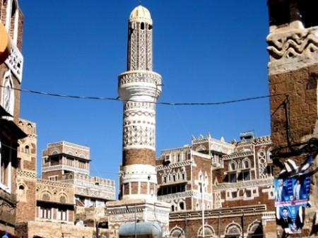 A minaret in Sana'a