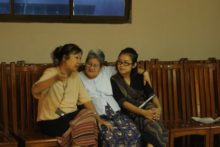 Three women engaged in peacebuilding in Myanmar