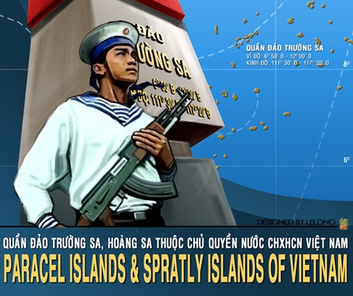 Propaganda poster for Vietnam's maritime claim over the Paracel and Spratly Islands