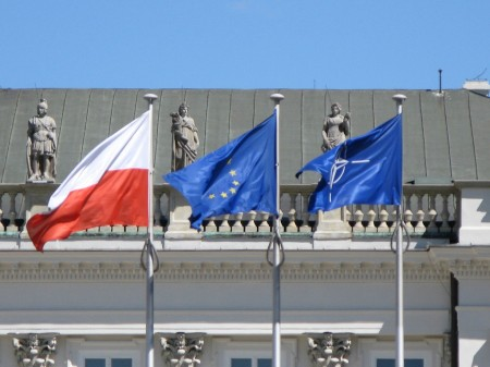 EU and NATO Flags