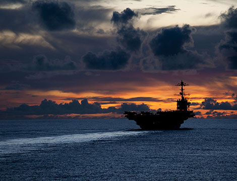 Aircraft carrier USS George Washington near Guam.