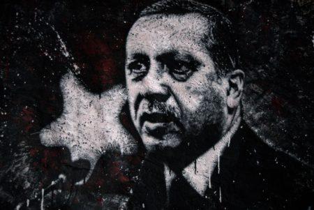 Recep Tayyip Erdoğan, painted portrait