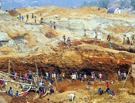 Joflong Stone Quarry, Bangladesh