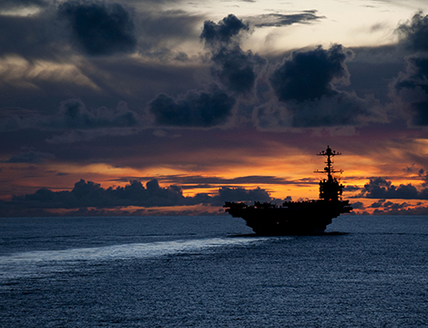 USS George Washington is underway in the Pacific Ocean