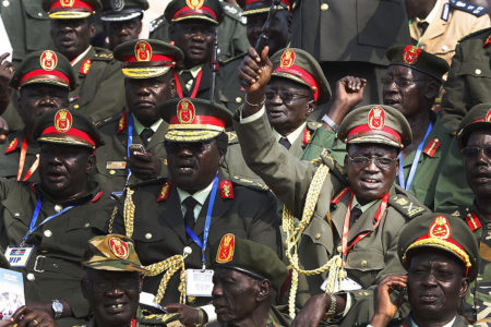 Generals of South Sudan's army