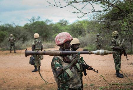 Burundian troops in Somalia