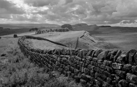 Hadrian's Wall was one of the first territorial borders. Photo: flickr/LittleMissBigFeet