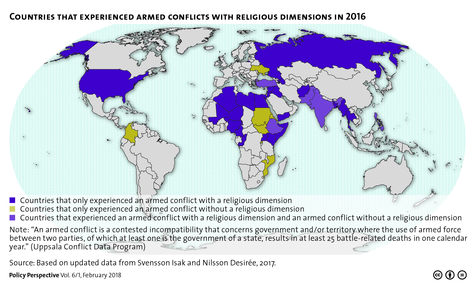 Countries That Experienced Armed Conflicts With Religious - World religion map 2016